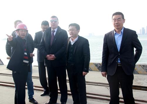 俄罗斯卡累利阿共和国代表团考察我司码头