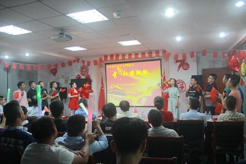 我司成功举办新中国70周年庆暨现代好声音歌唱比赛